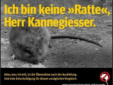 """Postkarte: """"Ich bin keine Ratte"""""""