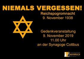 Plakat Gedenken 09.11.19