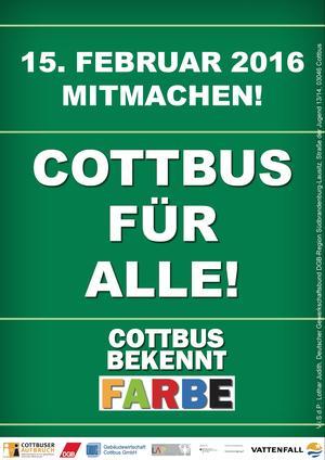 Cottbus bekennt Farbe