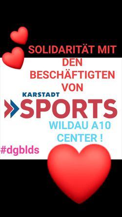 Solidarität mit den Beschäftigten von Karstadt