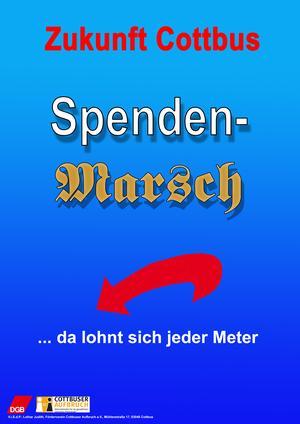 Spendenmarsch-Plakat