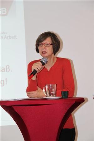 DGB-Bezirksvorsitzende Doro Zinke