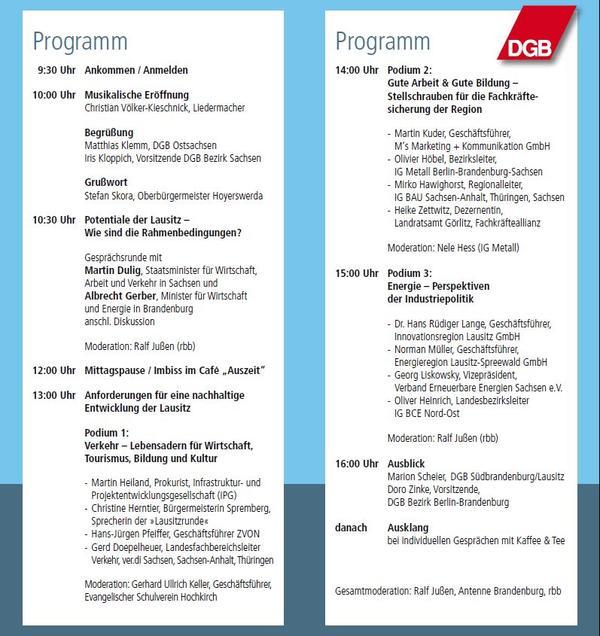 Programm Lausitzkonferenz