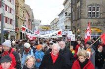Demo vor dem Schlosskirchplatz